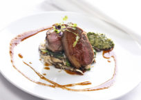 Lamb Rump with Wild Mushrooms